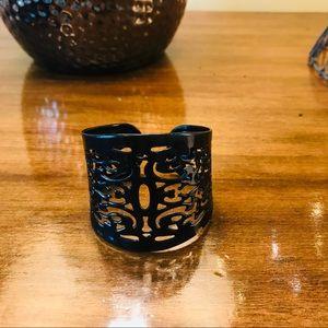 Jewelry - Black cutout design cuff bracelet